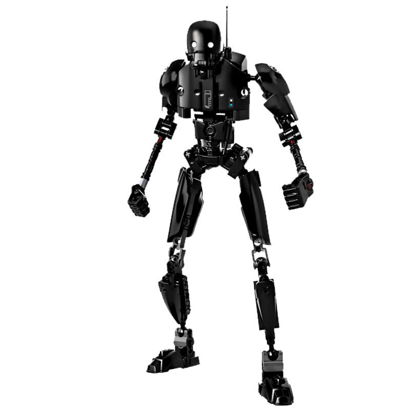 星球大战 风暴骑兵机器人人仔 机械士兵儿童益智拼装积木玩具