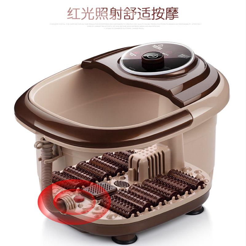 一品康 12滚轮足浴盆 红光自动加热按摩洗脚盆 泡脚足疗桶足浴器